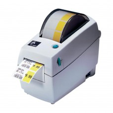 Zebra LP 2824 Plus - Direct thermal printing, 203 dpi, 2.25 max print width, USB and Serial Interfaces, and EU/UK power cord.